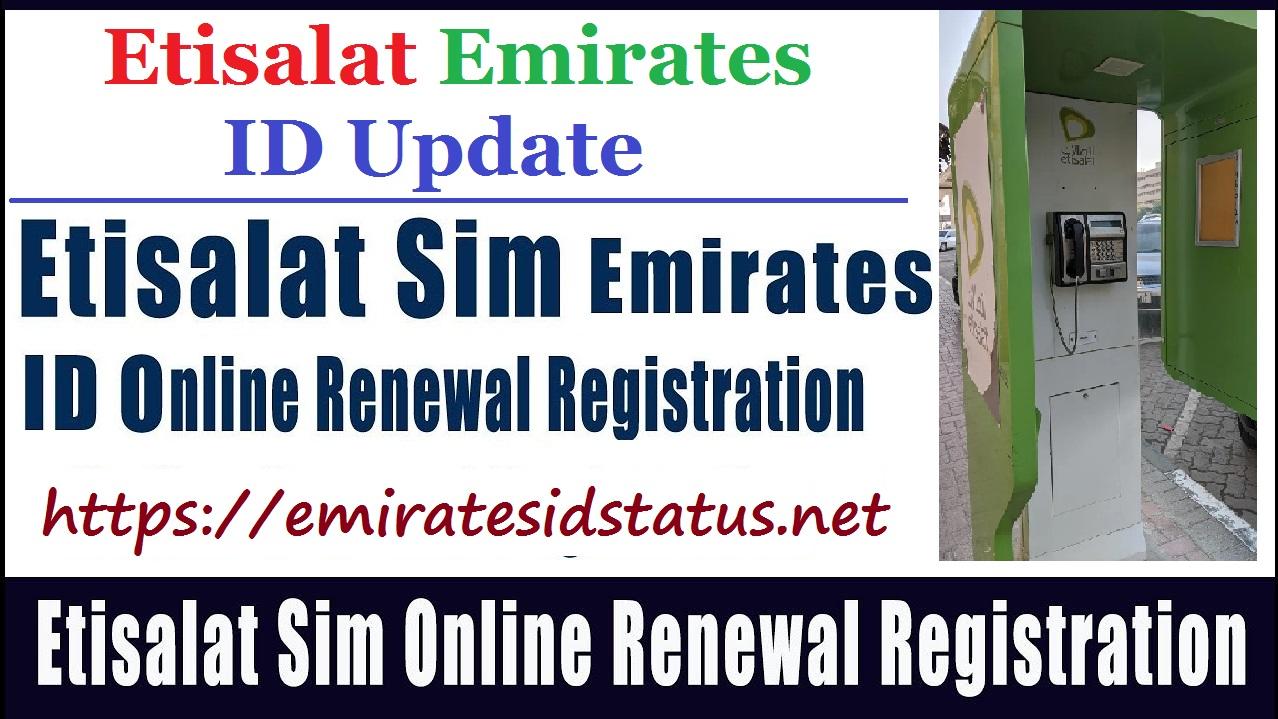 Etisalat Emirates Id Update